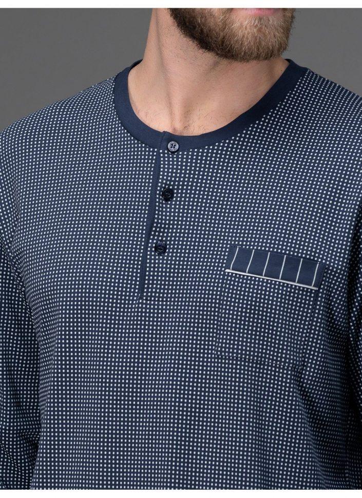 j008n1-665f-pigiama-in-interlock-stampato-di-puro-cotone 3