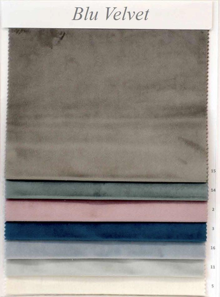 cartella colori blu velvet