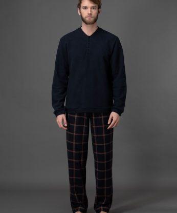 pigiama-in-morbidissimo-punto-milano-jacquard 1
