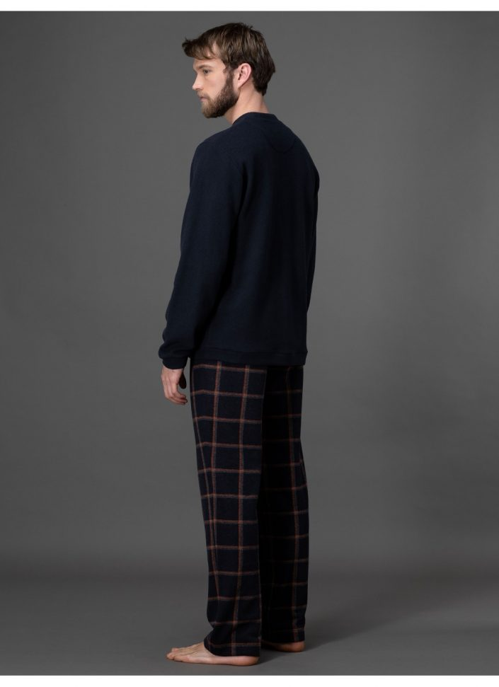 pigiama-in-morbidissimo-punto-milano-jacquard 2