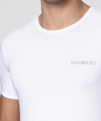 BIKKEMBERGS bipack t shirt basic bianca dettagli