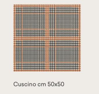 tweed orange 50×50